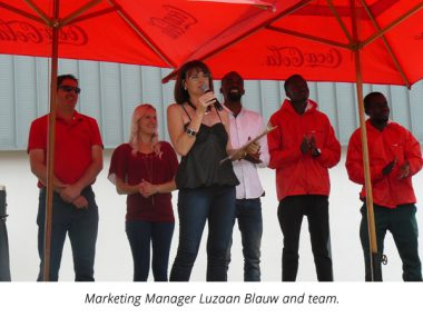Marketing manager Luzaan Blauw and team.